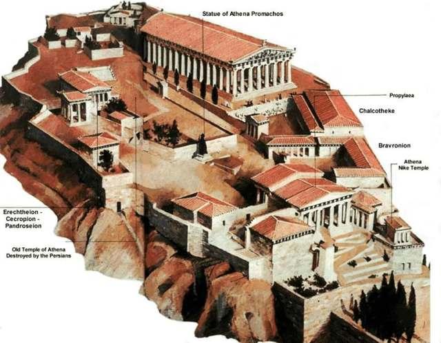 Acrópolis ateniense (Grecia clásica)