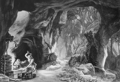 Bühnenbildentwurf Siegfried (Josef Hoffmann, 1876)