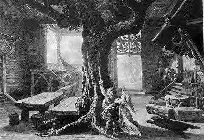 Bühnenbildentwurf Walküre (Josef Hoffmann, 1876)