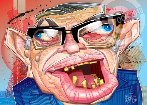 Jean Paul Sartre - Cartoon