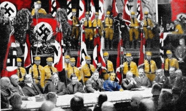Heidegger con los nazis en Leipzig ,1933